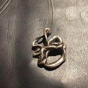 Vintage Brutalist Sterling Silver Necklace